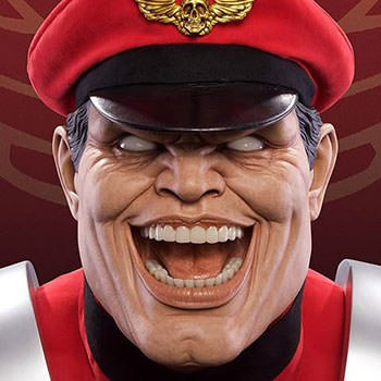 M Bison Life-Size Bust