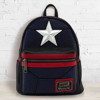 Captain America Cosplay Mini Backpack Apparel