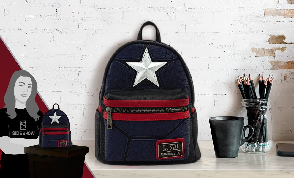 Marvel Captain America Cosplay Mini Backpack Apparel by Loun ... 585ad58d85645