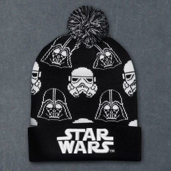 Darth Vader Stormtrooper Black and White Beanie Apparel