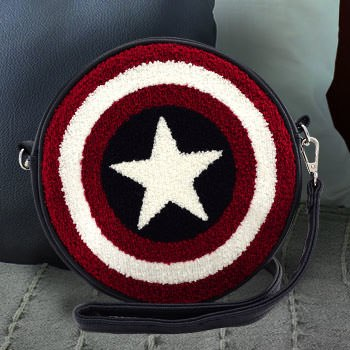 Captain America Shield Crossbody Bag Apparel