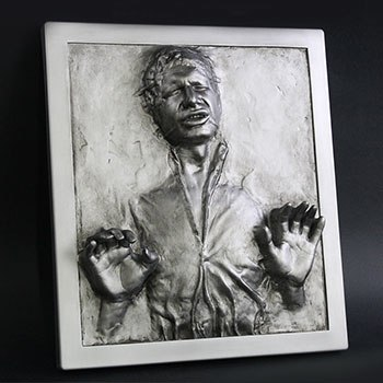 Han Solo in Carbonite Plaque Statue