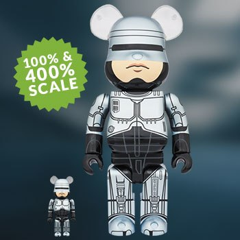 Bearbrick RoboCop 100 and 400 Collectible Set