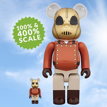 Bearbrick The Rocketeer 100 and 400 Collectible Set