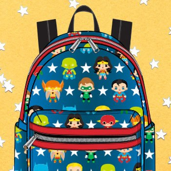DC Characters Chibi Mini Backpack Apparel