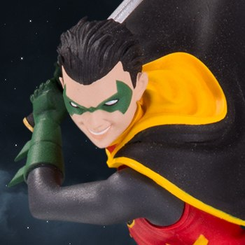 Robin Bat Family Statue
