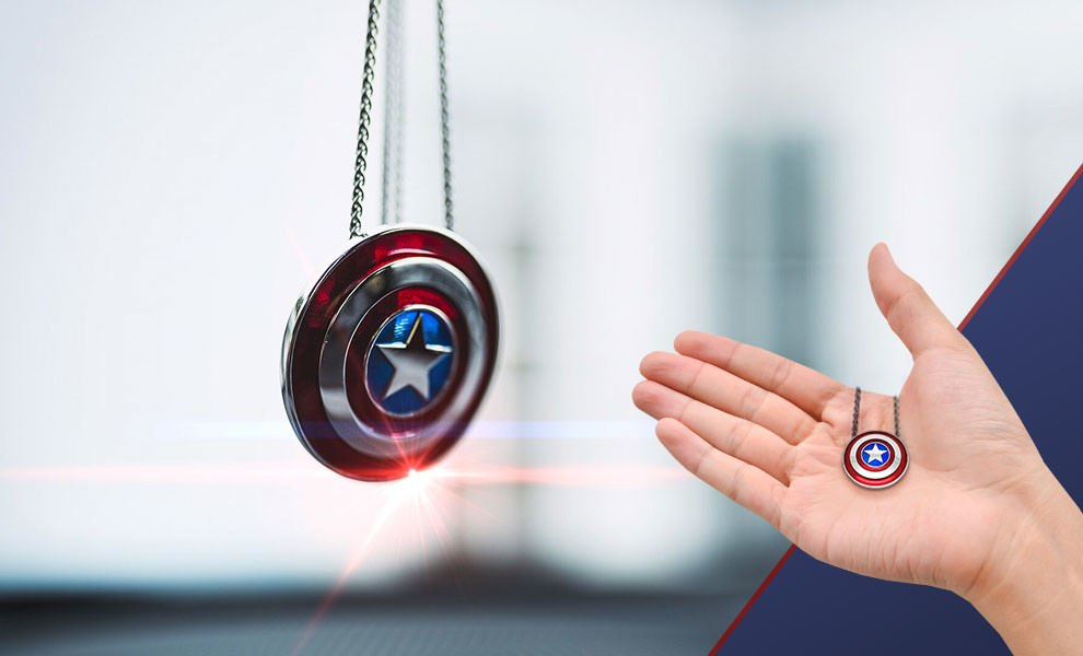 Captain America Shield Necklace - Small Jewelry