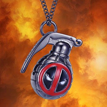 Deadpool Grenade Necklace Jewelry