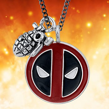 Deadpool Merc with a Mouth Necklace Jewelry