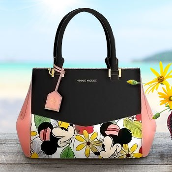 Minnie Mouse Flower Print Crossbody Bag Apparel