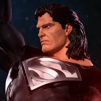 Superman Black Suit Statue