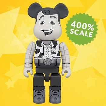 Bearbrick Woody Black and White 400 Figure