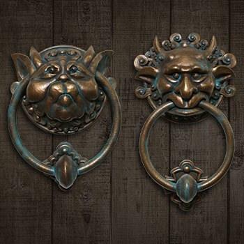 Labyrinth Door Knocker Set Scaled Replica