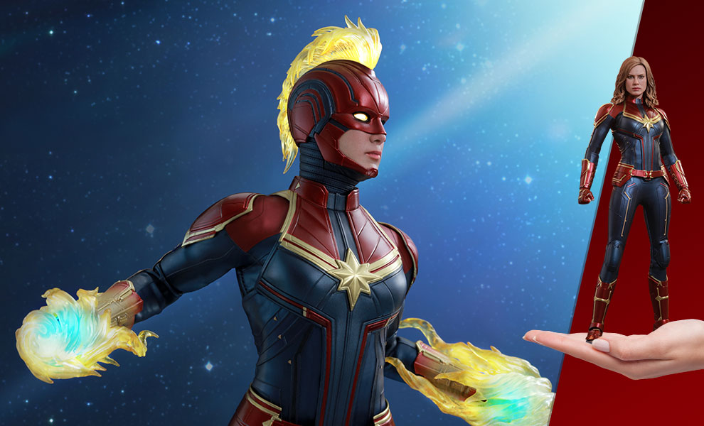 Marvel Captain Marvel Sixth Scale Figure By Hot Toys Sideshow