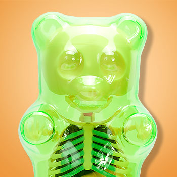 Funny Anatomy Gummi Bear (Clear Green) Collectible Figure