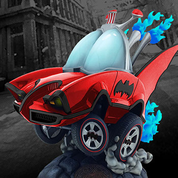 Batman Classic TV Series Batmobile (Red Variant) Statue
