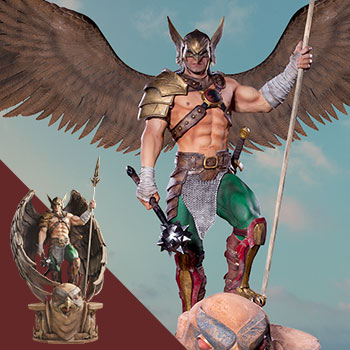 Hawkman (Open & Closed Wings) Statue