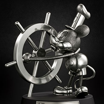 Mickey Mouse Limited Edition Steamboat Willie Figurine Pewter Collectible