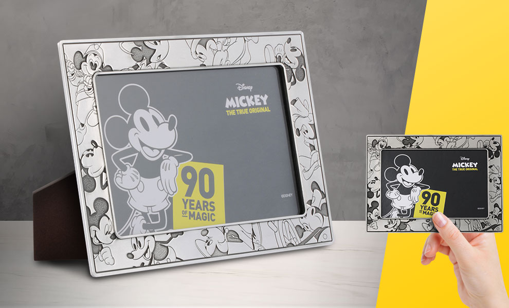 Mickey Through the Ages Photo Frame Pewter Collectible