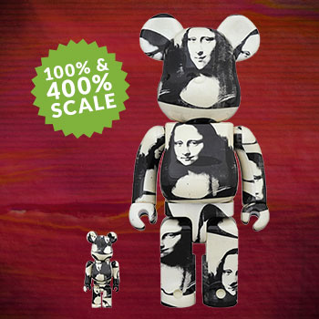 "Be@rbrick Andy Warhol ""Double Mona Lisa"" 100% and 400% Collectible Set"