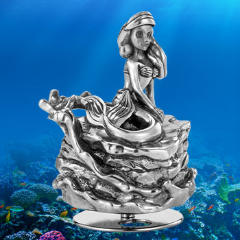 Ariel Music Carousel Pewter Collectible