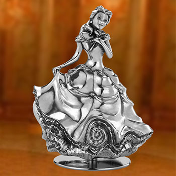 Belle Music Carousel Pewter Collectible