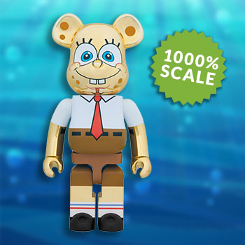 Be@rbrick Spongebob Gold Chrome 1000% Figure