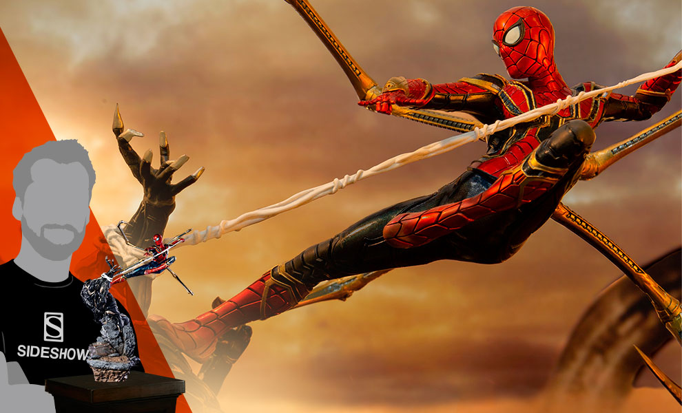 Iron Spider VS Outrider Statue