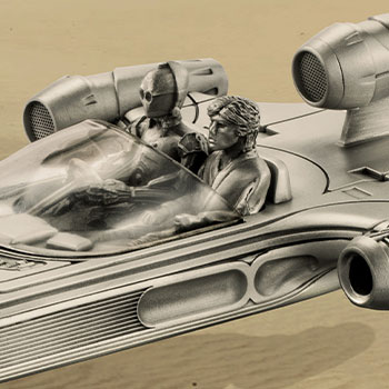 Landspeeder Replica Pewter Collectible
