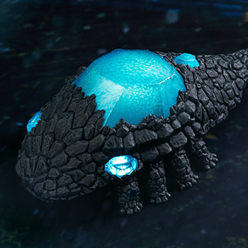 Crystal Lizard Light-Up Statue