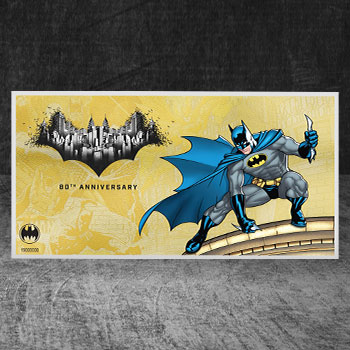 Batman 80th Anniversary 1g Gold Coin Note Gold Collectible