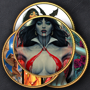 Vampirella 50th Anniversary 24kt Gold Coin Set Collectible Set