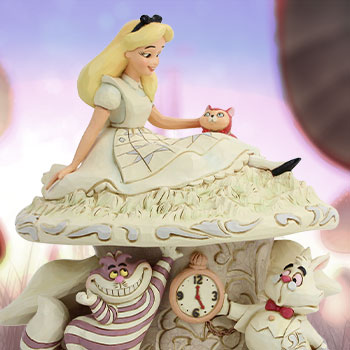 White Woodland Alice in Wonderland Figurine