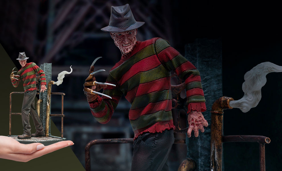 Freddy Krueger Deluxe Statue by Iron Studios   Sideshow ...