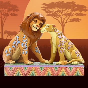 Simba and Nala Snuggling Figurine