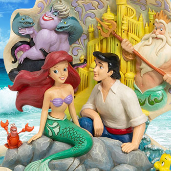 The Little Mermaid Shell Scene Figurine