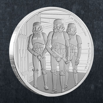 Stormtrooper Silver Coin Silver Collectible