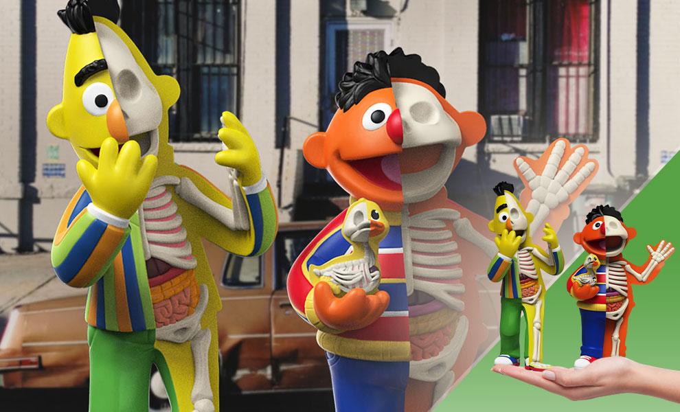 MIGHTY JAXX XXRAY PLUS Sesame Street Bert /& Ernie PVC Figure Toy