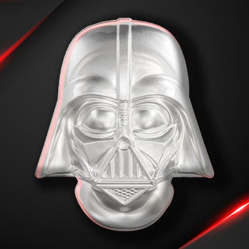 Darth Vader Helmet Coin Silver Collectible