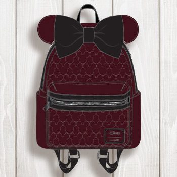 Minnie Velvet Bow Quilted Mini Backpack Apparel
