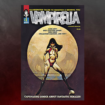 Vampirella #1 (1969) Limited Platinum Foil Edition Book