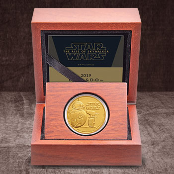 BB-8 & D-O Gold Coin Gold Collectible