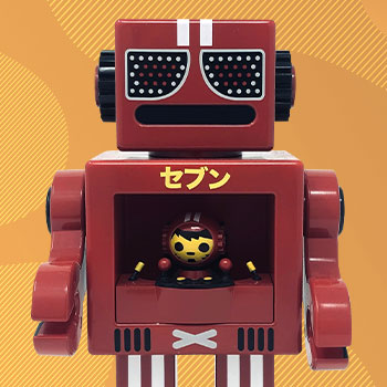 Seven Red OBOT Collectible Figure