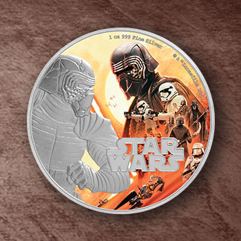 Kylo Ren Silver Coin Silver Collectible