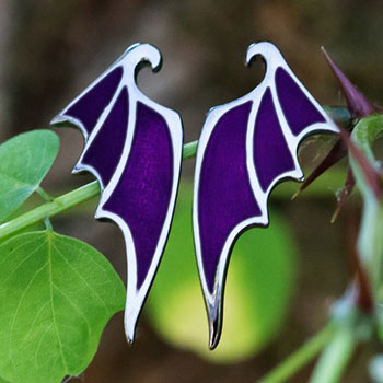 Maleficent Dragon Wing Earrings Jewelry