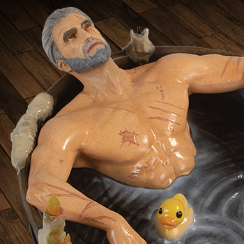 Geralt in the Bath Statuette