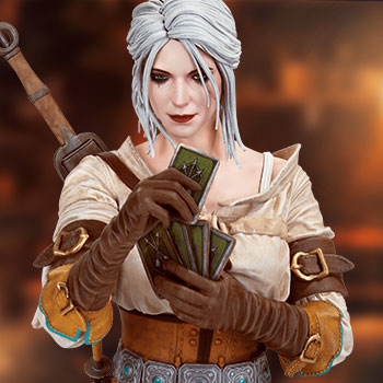Ciri Playing Gwent Bust