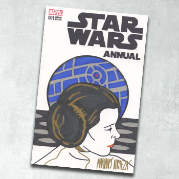 Star Wars Annual #1 Princess Leia Sketch Cover Book