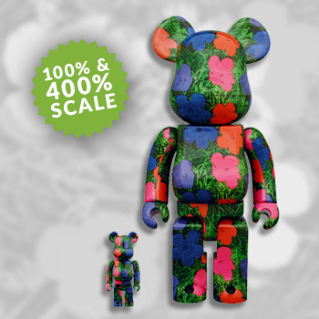 "Be@rbrick Andy Warhol ""Flowers"" 100% and 400% Collectible Set"
