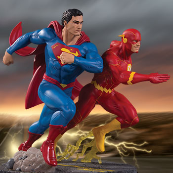 Superman vs. The Flash Racing Statue